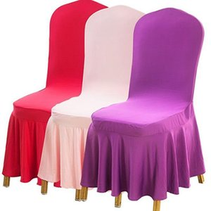 Chair Skirt Cover Wedding Banquet Chair Protector Slipcover Pleated Skirt Style Chair Covers Elastic Spandex Chairs Covers Sea Ship IIA712