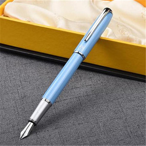 Фонтан ручки 1 шт. / Лот Picasso 916 ручка Малага синий серебряный клип Иракрия писать поставляет канцелярские товары студентов подарки 13,6 * 1.1см1