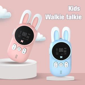 Mini Walkie Talkie Kids Toys Cute Wireless Intercom Child Handheld Two Way Radio 1-3km Communicator Camping Family Children Gift