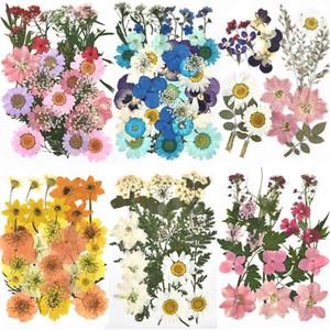 Dekoratif Çiçekler Çelenkler 1 Paketi Kurutulmuş UV Reçine Doğal Çiçek Çıkartmalar Kuru Güzellik Çıkartması DIY Epoksi Dolum Takı Dekorasyon Için 2021