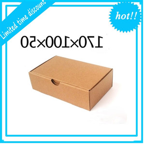 Blank Kraft Paper Mailer Shipping Box Corrugated Carton Wedding Gift Package Christmas Party Favor Wrap Boxes