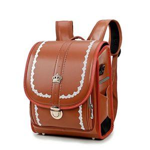 Япония Детская школьная сумка для девочек и мальчиков рюкзак водонепроницаемый PU SandoSeru сумки для малыша ортопедический Satchle Mochila Escolar Y200328