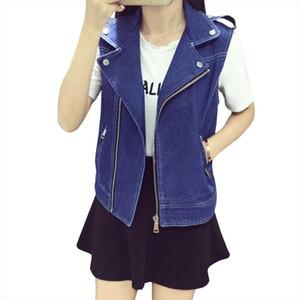 5XL 6XL 7XL 8XL Large Size Denim Jacket For Women Vintage Blue Womens Vest Zipper Pocket Casual Jeans Waistcoat Female Cardigan