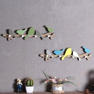 Creative Home Decor Interior Decoração Bird Wood Coat Cabide Roupas Cabide Crianças Quarto Sala de Estar na parede Pendurar Decorações1