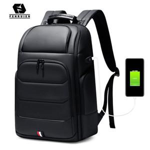 Fenruien sacs à dos étanche sac d'école de recharge USB hommes anti-vol sac à dos pour ordinateur portable Fit 15,6 pouces haute capacité de Voyage C1008