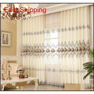 Curtains For Living Dining Room Bedroom New European Style Water Soluble Embroidery Curtain Tulle Valance qylcMW item_home