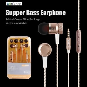 BGreen G66 Bass Stereo Cell Phone Earphone With Microphone For MP3 Player Android 7 7S S8 Mate 9 NOTE 8