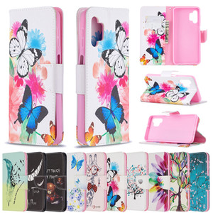 Printing Flower Patterns Wallel Flip PU Leather Protector Phone Case For Samsung Galaxy S21 S20 FE Plus Ultrs A52 A72 A42 A02S A32 A12