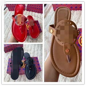 2020 여성 신발 럭셔리 디자이너 플립 상자 00-ZJ로 클래식 레이디 밀러 샌들 정품 가죽 슬라이드 슬리퍼 샌들