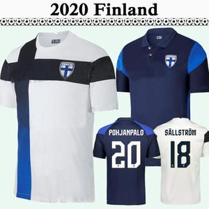 2020 Финляндия Национальная команда Mens Soccer Jerseys Pukki Skrabb Raitala Jensen Home Home Белый Черный Футбол Рубашка для взрослых Короткая рукав