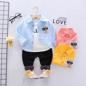 Cotton Children Clothes Spring Autumn Baby Boys Girls Cartoon Shirts Jacket Pants 3Pcs sets Infant Outfit Kid Fashion Tracksuits1