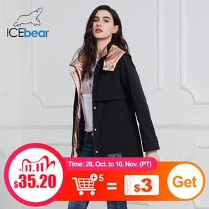 Icebear 2020 Новое пальто Длинные Куртки Качество Парки Мода Повседневная Бренд Женская Одежда GWC20727i X1102Y1104