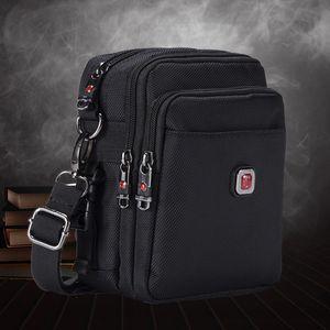 Soperwillton Men's Bag Crossbody Bag Messenger Waterproof Purse Oxford 1680D Zipper Shoulder Bag For Male Versatile Style 1052#