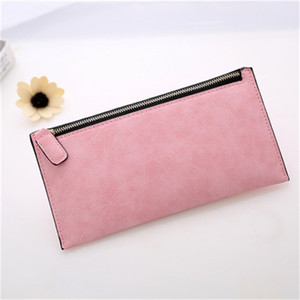 New Style Frosted Handbag PU Leather Long Card Bag Wallet Multi Color Long Zipper Purse High Quality Wholesale 5 2hjH1
