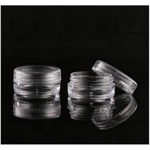 plastic 3ml cosmetic jar empty eyeshadow case face cream bottles glitter container eye shadow empty nail pots beauty tool bh3647 dbc