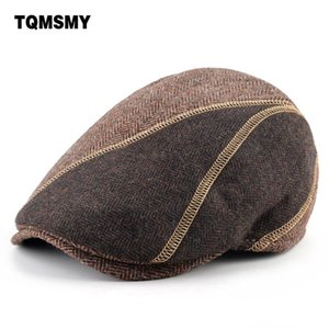 Mixed colors caps Men Berets winter Cotton Hats Thick warm Peaked cap casual Gorras Planas bone Flat hat Men's Berets boina