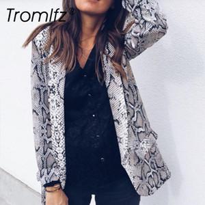 Tromlfz 2019 printemps et automne femmes sexy mode occasionnel personnalité snake modèle léopard veste femme à manches longues1