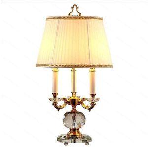 Modern crystal Table Lamps 100% K9 Crystal Table Desk Lamp Top Quality Bedroom Bedside Lamps Abajur cristal bedroom lights