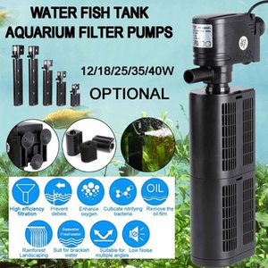 3 in 1 Fish Tank Aquarium Filter Pump Submersible Air Pump Air Oxygen Increase Aquarium Internal Filter Pump 12 18 25 35 40W Y200917