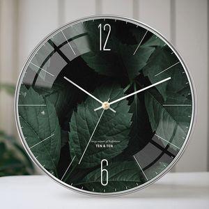 Leaves Wall Clock Modern Design Clock on The Wall Watch Living Room Bathroom Clocks Large Wall Decor Quartz Needle Clocks