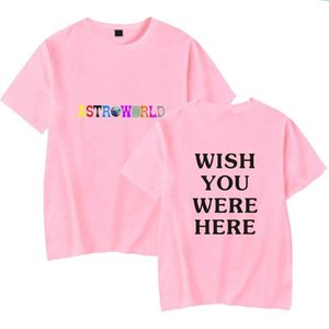 New Fashion Hip Hop T Shirt Men Women Travis Scotts Astroworld Harajuku T-shirts Wish You Were Here Letter Print Tees Tops bbyFjl cxj_love