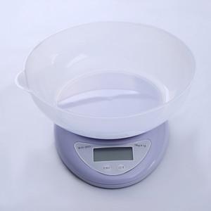 Pequeña escala digital LCD portátil 5kg / 1 g 1 kg / 0.1g Cocina Alimentos precisa Escala de cocción Balance equilibrio de medición de escalas de peso 180 J2