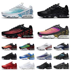 2020 Nueva Nike Air Max Tn Plus 3 Airmax Tns mujeres de los hombres de los zapatos corrientes de aire Triple Negro All White Plus Tn rojo Formadores las zapatillas de deporte