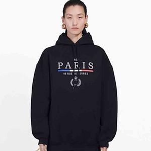 19FW Corona BL Cartas bordado sudadera con capucha mujeres de los hombres de moda de invierno suéter con capucha Streetwear Homme Ropa S-XL