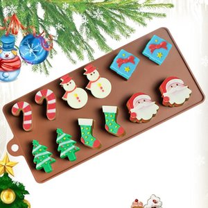 Creative Christmas silicone cake mold Santa Claus candy baking products DIY chocolate biscuit mold free shipping