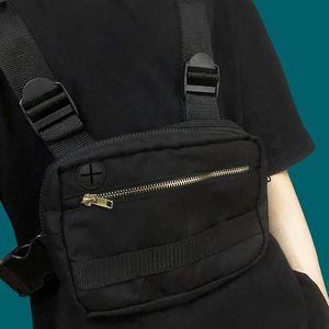 Tactical Chest Rig Bag Streetwear Unisex Hip Hop Chest Bags Harajuku Function Black Vest Bag Adjustable Waist Pack Kanye West