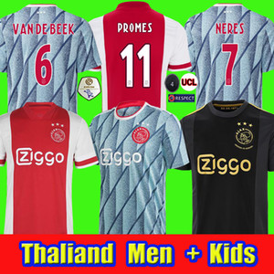 AJAX 20 21 Soccer Jersey 2020 2021 Kudus Antony Pied Blind Promes Tadic Neres Cruyff Men + Kit Kit Football Shirts Away Tercer 50