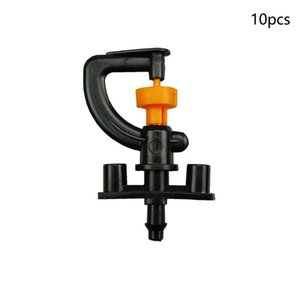 10 Pcs Portable Micro Irrigation Sprinkler Durable Patio With Holder G Shaped 360 Degrees Rotating Plastic Nozzle Garden Tools
