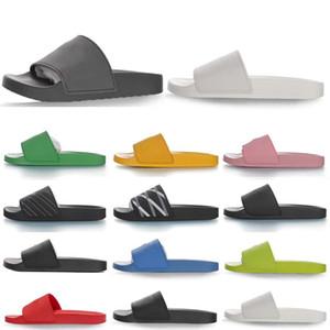 2021 Havuz Slayt Kauçuk Track-S Eğitmenler Tasarımcı Erkek Terlik Hız Katır Flip Flop Yuvarlak İtalya Kaymaz Kadınlar Rahat Sandalet Ayakkabı 01