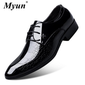 New Men Dress Shoes Shadow Patent Leather Luxury Fashion Groom Wedding Shoes Men Luxury italian style Oxford Size 37-48