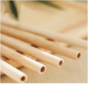 12 pcs / set réutilisable fête écologique cuisine pailles bambou buvant des pailles avec une brosse propre drop shipping w bbynvk