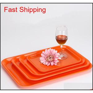 27*20cm 33*25cm Rectangular Breakfast Plate Plastic Tray Hotel Cake Fast Food Bread Fruit T qylJaM bde_luck