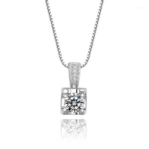 Diamond Pendant D Color 0.5CT-2CT Moissanite Necklace Gift Wedding Party Female Clavicle Chain Bull Head11
