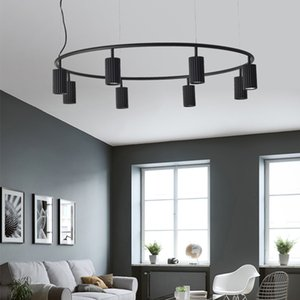 Nordic Brief Spot Chandelier Lighting Designer Rotatable Hanging Lights Colorful Suspension For Living Room Bedroom Dinning Room