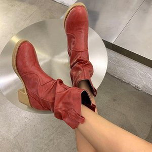 2020 Explosive Style Women's Shoes European and American High Heel Women's Leather Boots Fashion Sleeve Boots