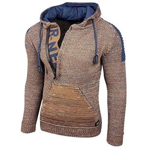 MUYOGRT Мужчина Vintage Трико Прицепных Homme Повседневных пуловеры Мужской Outwear Тонкая Вязаный Твердая Перемычка Зимнего Теплый свитер