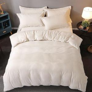 디자이너 새로운 산호 벨벳 화이트 침구 세트 양털 따뜻한 4 조각 침구 커버 이불 커버 플란넬 시트 세트 패션 편지 인쇄
