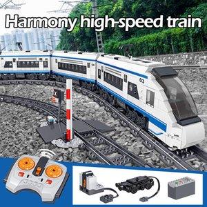 941PCS City Electric Harmony высокоскоростные рельсы строительные блоки RC Technic Car Train Track Bricks Фигурки игрушки для детей C0119