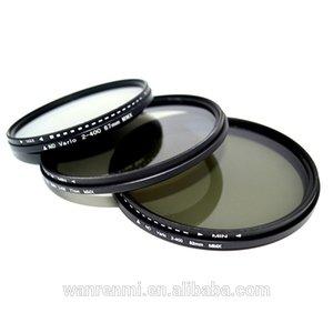 Professional 58mm ND2-ND400 adjustable nd lens filter for camera