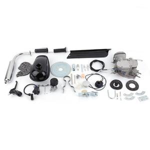 Новый 2-х ударов 80CC Cycle Motor Engine Engine Kit Gas Great для моторизованных велосипедов велосипедов Silver1