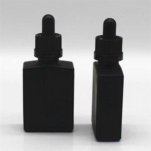 30 мл черной матовой стеклянной жидкости пипеткой пипетка капельницы бутылки квадрат эфирное масло парфюмерные бутылочки дымовое масло E жидкие бутылки D 9 N2