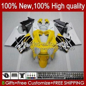 Body For HONDA CBR919 CBR900 RR CBR 900 919 RR CC CBR919RR 98 99 93HC.33 CBR 919RR 900RR 900CC yellow white 919CC CBR900RR 1998 1999 Fairing
