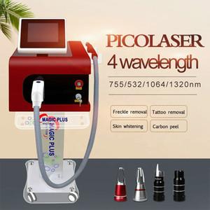 Pikosekunden-Pigment Entfernung 4 Wavelength Pico-Laser-Maschine 1064nm 532nm 755mm Pico Laser Ance Removal Hautverjüngung Salon Clinic Spa