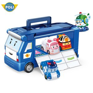 RoboCar POLI Juguetes Robocar Poli Poli Transformación del robot ámbar Roy modelo de coche animado figura de acción juguetes para los niños mejor regalo