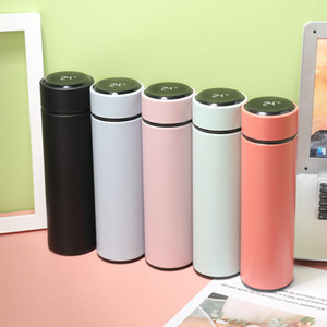 Yeni Moda Akıllı Mug Sıcaklık Ekran Vakum Paslanmaz Çelik Su Şişesi Kettle Termo Kupası ile LCD Dokunmatik Ekran Hediyelik Kupası DBC 500ML