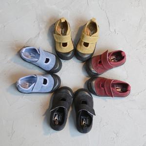 Ailvyang Spring Automne Wash Lavage vieux rétro enfants chaussures de toile garçons et filles élèves de chaussures décontractées Kids hameçons baskets 1-7Y1